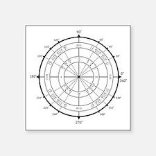 "Unit-Circle-Transparent-200 Square Sticker 3"" x 3"""