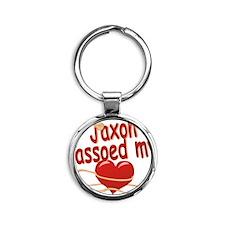 jaxon-b-lassoed Round Keychain