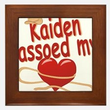 kaiden-b-lassoed Framed Tile