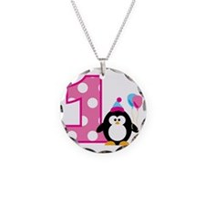 PenguinBirthday1_V2 Necklace Circle Charm