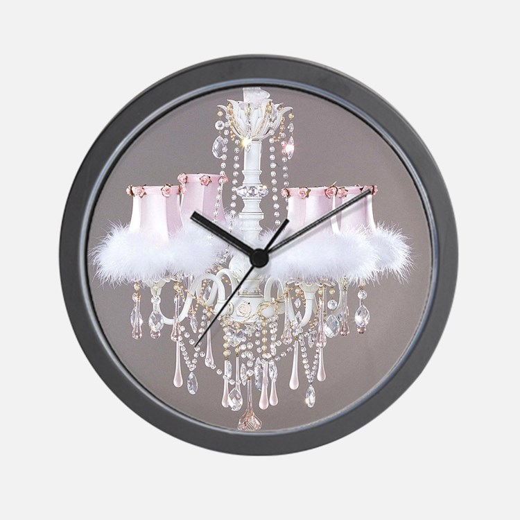 Shabby-chic-chandelier Wall Clock