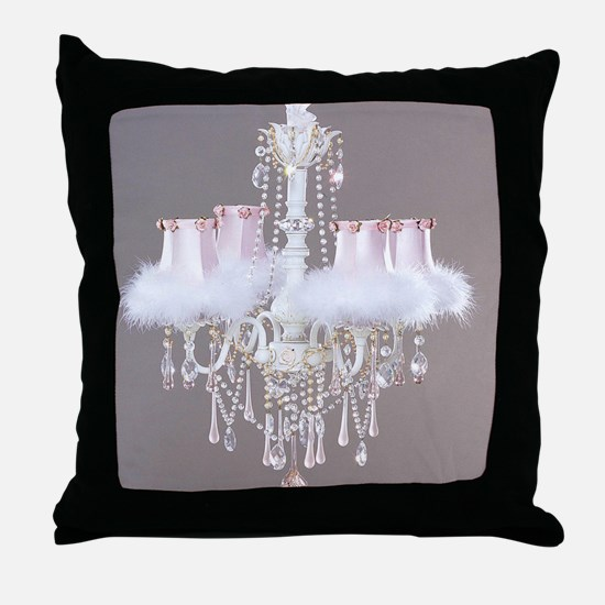 Shabby-chic-chandelier Throw Pillow