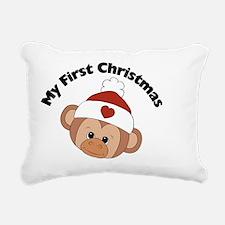 my first christmas girl  Rectangular Canvas Pillow