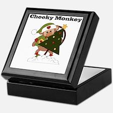 cheeky monkey christmas Keepsake Box