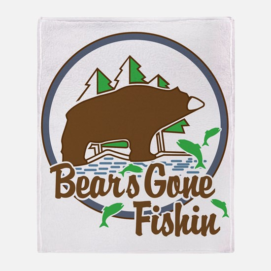 Bear's Gone Fishn' Throw Blanket