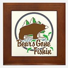 Bear's Gone Fishn' Framed Tile