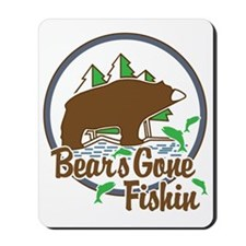 Bear's Gone Fishn' Mousepad