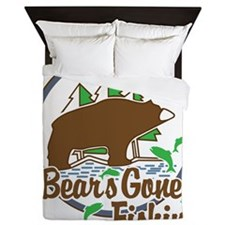 Bear's Gone Fishn' Queen Duvet