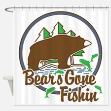 Bear's Gone Fishn' Shower Curtain