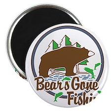Bear's Gone Fishn' Magnet