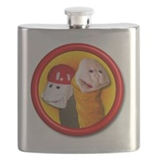 Helmet Kid and Harelip No Names Flask
