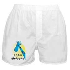 i love giraffes Boxer Shorts