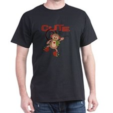 cute but trouble christmas monkey T-Shirt