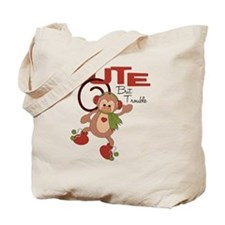 cute but trouble christmas monkey Tote Bag