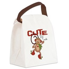 cute but trouble christmas monkey Canvas Lunch Bag