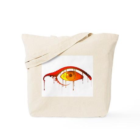 Evil Orange Melting Eye Tote Bag