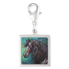 Zelvius painting by Janet Fer Silver Square Charm