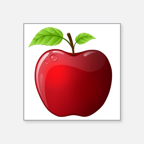 "apple Square Sticker 3"" x 3"""