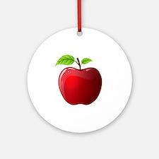 apple Round Ornament