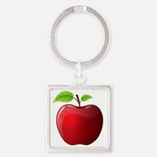 apple Square Keychain
