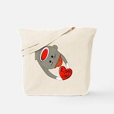 sock monkey HUGE Tote Bag