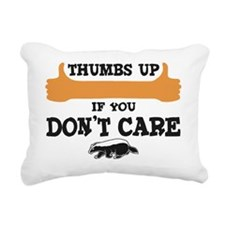 Thumbs-UP-DontCare-bk Rectangular Canvas Pillow