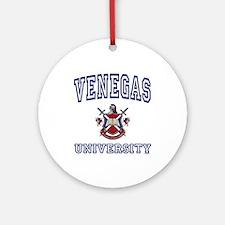 VENEGAS University Ornament (Round)