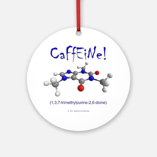 caffeine3 Round Ornament