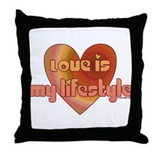 Love is my lifestyle Throw Pillow