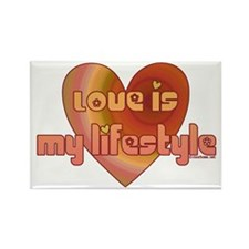 Love is my lifestyle Rectangle Magnet