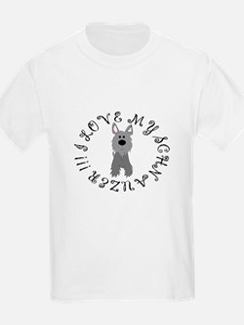 I LOVE MY SCHNAUZER Kids T-Shirt