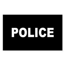 Police Rectangle Decal