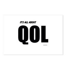 Its all about QOL Postcards (Package of 8)