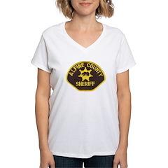 Alpine County Sheriff Women's V-Neck T-Shirt