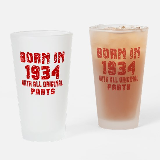 Born In 1934 With All Original Part Drinking Glass