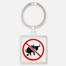 No BS Square Keychain