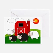 Farm Scene Puzzle Greeting Card
