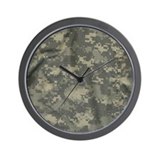 Digital Camo Wall Clock