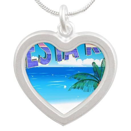 skcartoon Silver Heart Necklace
