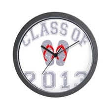 Class Of 2013 Flip Flop Grey-Red 2 D Wall Clock