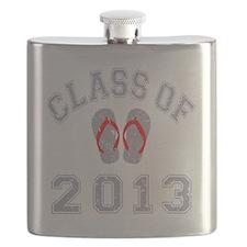 Class Of 2013 Flip Flop Grey-Red 2 D Flask