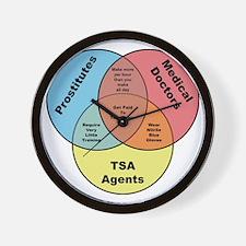 TSA Prostitutes Doctors Wall Clock