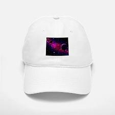 Space scenery with globe planets nebula stars Baseball Baseball Cap
