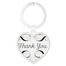 Thank You Heart Keychain