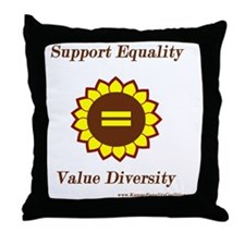 Support Equality Sunflower Throw Pillow
