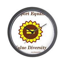 Support Equality Sunflower Wall Clock