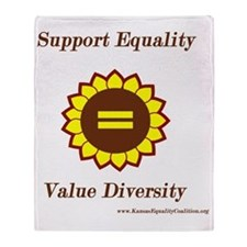 Support Equality Sunflower Throw Blanket