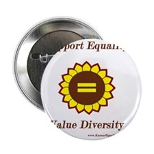 """Support Equality Sunflower 2.25"""" Button"""