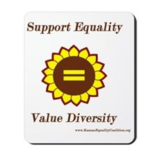 Support Equality Sunflower Mousepad