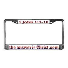 1 John 1:4-10 License Plate Frame